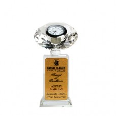 Crystal With Clock SG Memento - 4.5 inch